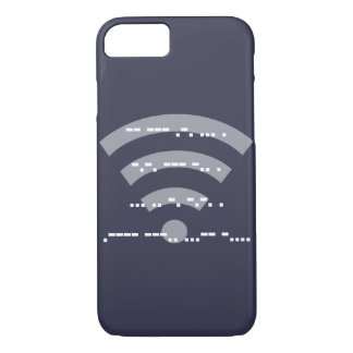 Morse code midnight blue design phone case