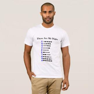 Morse Code Numbers Chart Ham Radio T-shirt
