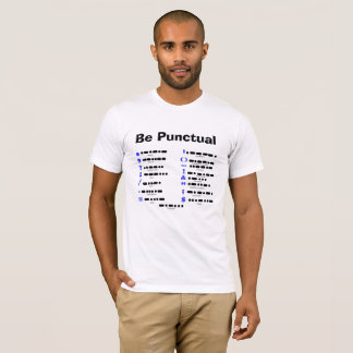 Morse Code Punctuation Chart T-shirt