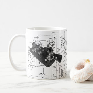 Morse Code Radio Key Schematic Coffee Mug