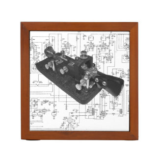 Morse Code Radio Key Schematic Desk Organiser
