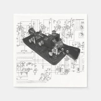 Morse Code Radio Key Schematic Disposable Serviettes