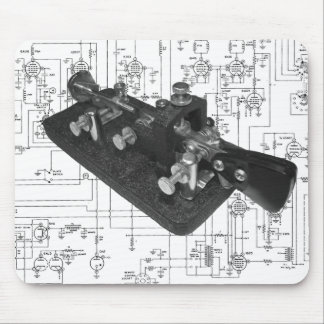 Morse Code Radio Key Schematic Mouse Pad
