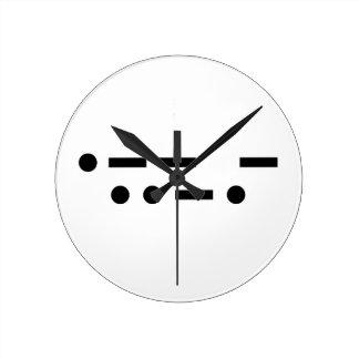 Morse code wtf round clock