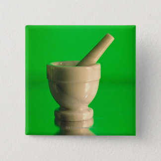 Mortar and pestle 15 cm square badge