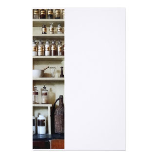 Mortar and Pestle and Bottles on Shelves Stationery