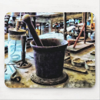 Mortar and Pestle in Chem Lab Mouse Pad