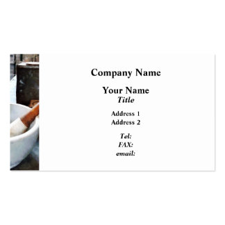 Mortar and Pestle in Lab Business Card Template