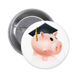 Mortar Board Piggy bank Button