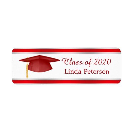 Mortar, class of any year Graduation Avery Label Return Address Label