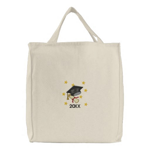 Mortar & Diploma Canvas Bags