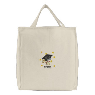 Mortar & Diploma Embroidered Tote Bag