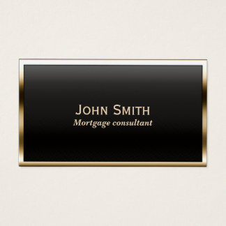 Mortgage Agent Modern Black & Gold Business Card