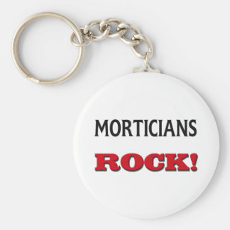 Morticians Rock Basic Round Button Key Ring