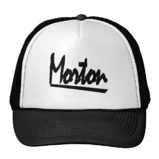 morton trucker hat black and white