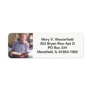 Mory V. Westerfield return address labels