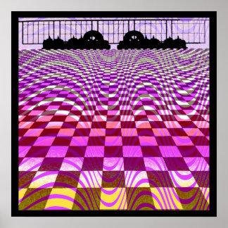 Mos Eisley Fuschia Op Art Poster