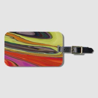"""""""Mosaic Abstract"""" luggage tag"""