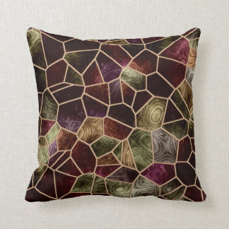 Mosaic Abstract Stained Glass Cushion