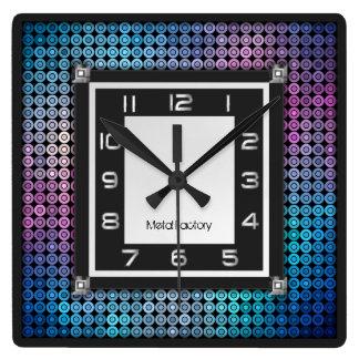 Mosaic and Metal Wall Clock