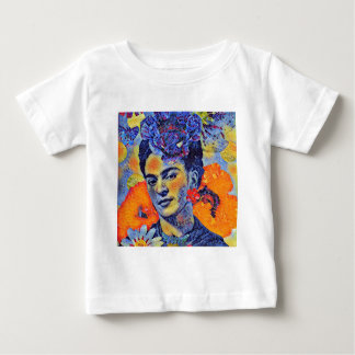 Mosaic Artist Woman with Flowers Baby T-Shirt