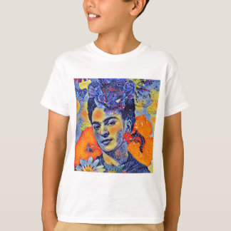 Mosaic Artist Woman with Flowers T-Shirt