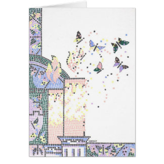 Mosaic Bat Mitzvah Greeting Card