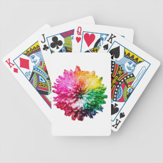 Mosaic Beautiful Multicoloured Flower Bicycle Playing Cards