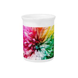 Mosaic Beautiful Multicoloured Flower Pitcher