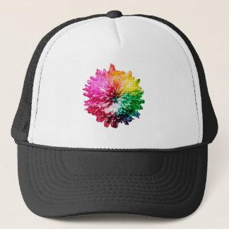 Mosaic Beautiful Multicoloured Flower Trucker Hat