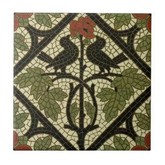 Mosaic Birds Tile c1885 Mintons Vintage Design