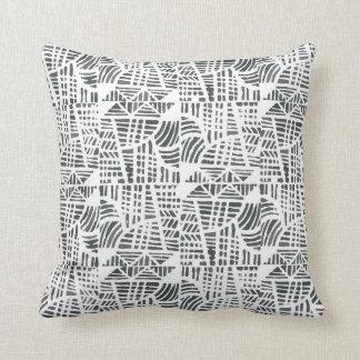 Mosaic black cushion
