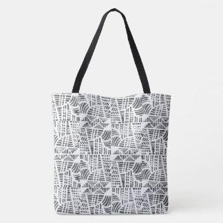 Mosaic black tote bag