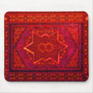Mosaic Box in Red Mouse Pad