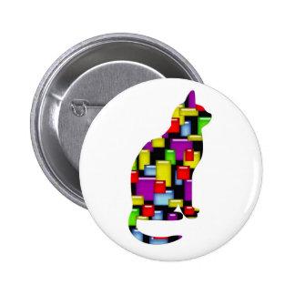 mosaic cat pin