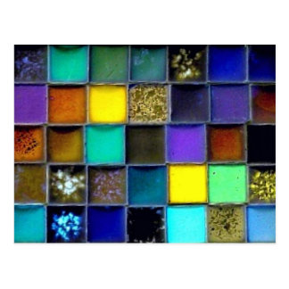 Mosaic Ceramic Tile Blank Postcard | Customize