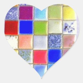 Mosaic Ceramic Tile Heart Sticker
