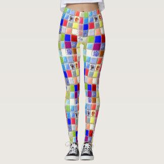 Mosaic Ceramic Tile Hippy Leggings