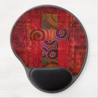 Mosaic Christian Cross Red Abstract Background art Gel Mouse Pad