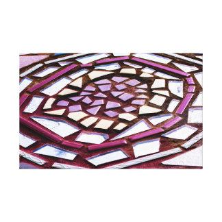 Mosaic Circle Canvas