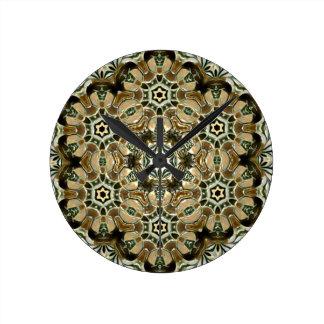 Mosaîc clock BROWN