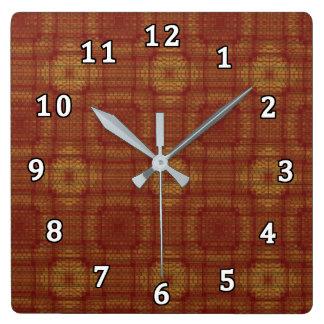 Mosaic Cloth Square Wall Clock