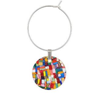 Mosaic Confetti Wine Glass Charm