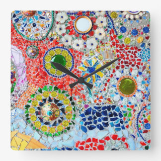Mosaic creation wallclock