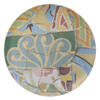 Mosaic decoration dinner plates