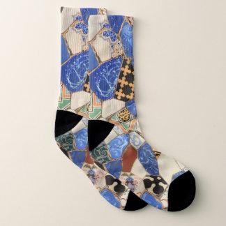 Mosaic decoration socks