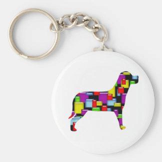 mosaic dog keychains