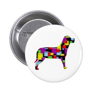 mosaic dog pinback buttons