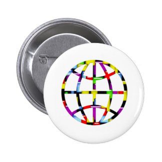 mosaic earth pinback buttons
