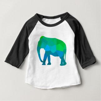 Mosaic Elephant 1 Baby T-Shirt